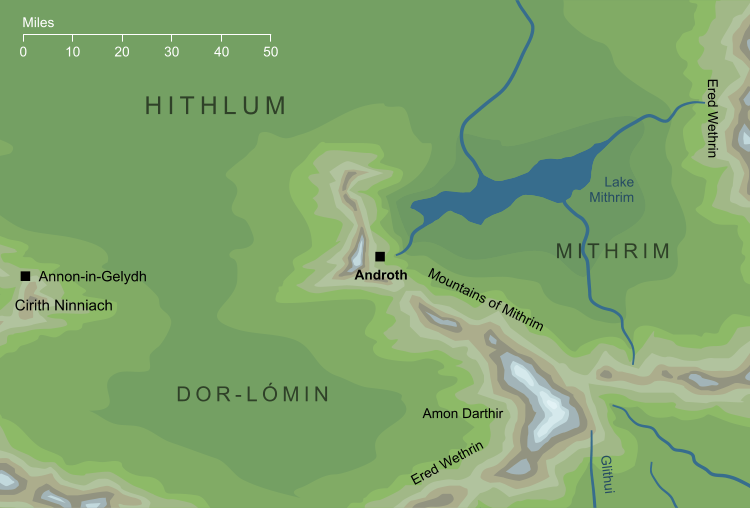 Map of the caves of Androth