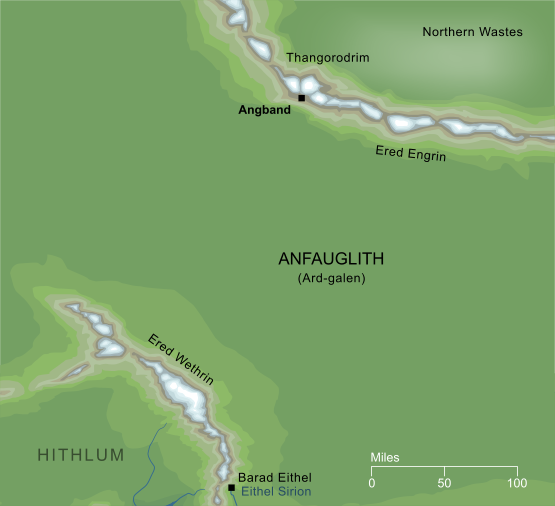 Conjectural Map of Angband