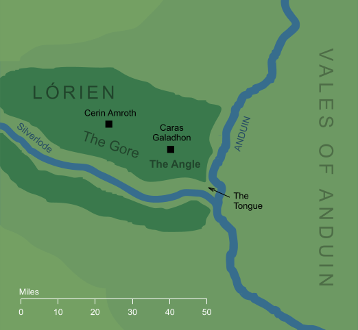 Map of the Angle of Lórien