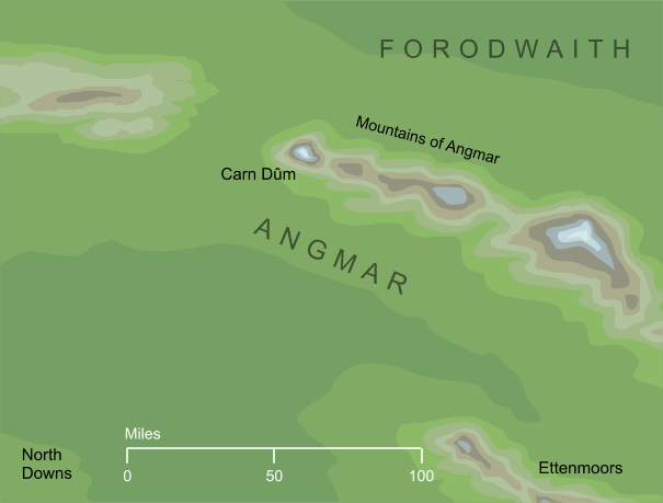 Map of Angmar