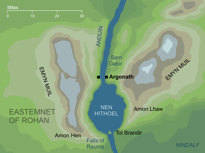 Map of the Argonath