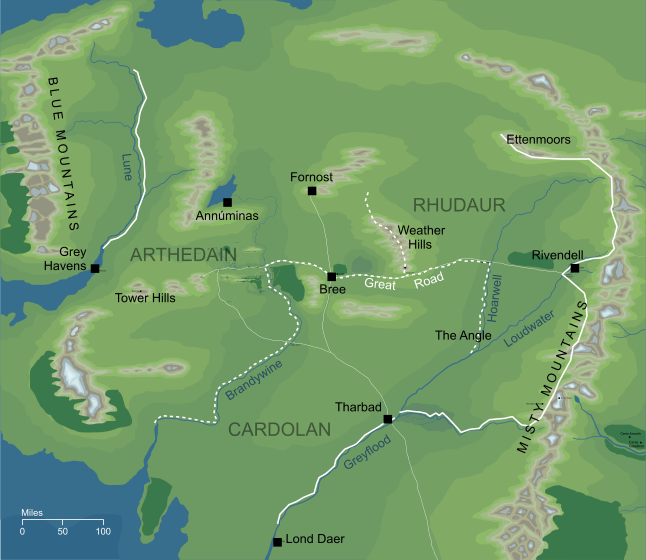 Map of Arnor