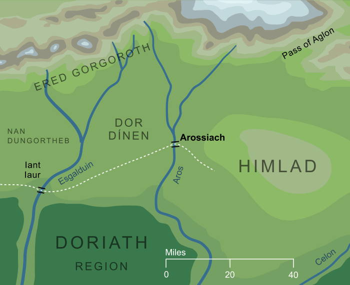 Map of the Arossiach