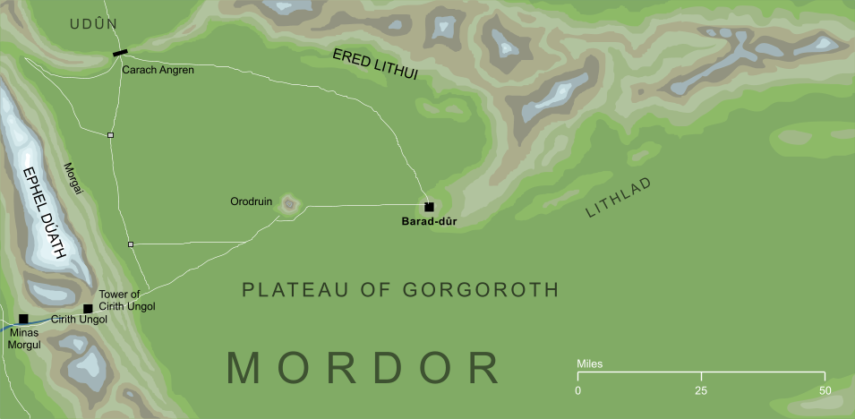 Map of the Barad-dur