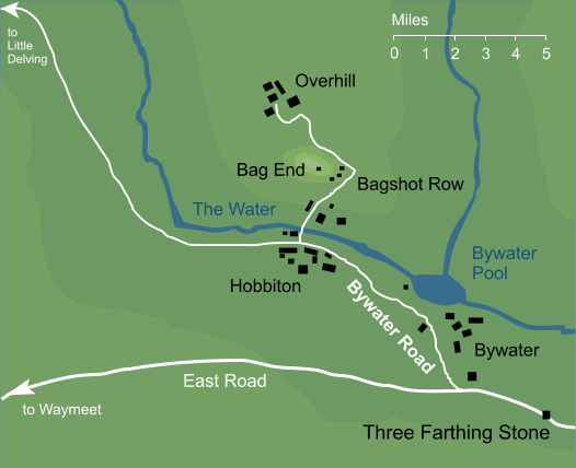 Map of Bywater Road