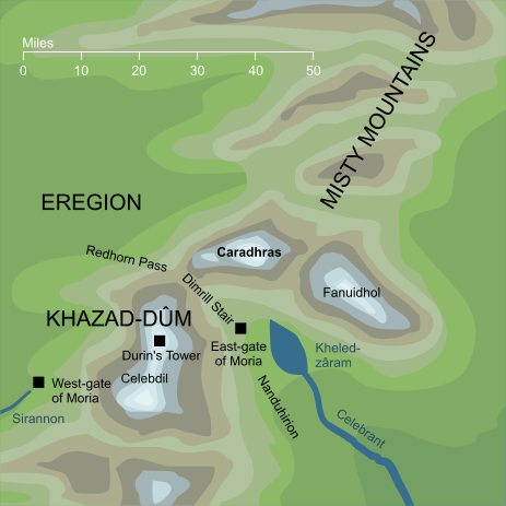 Map of Caradhras