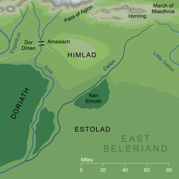 Map of the river Celon