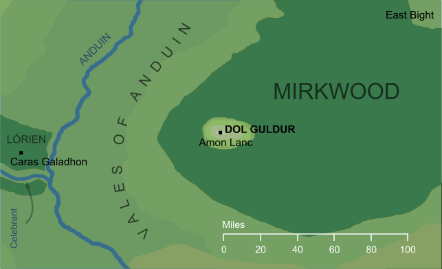 Map of Dol Guldur