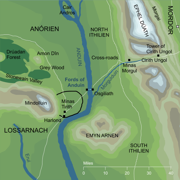Map of the Fords of Anduin