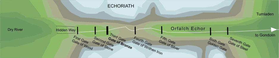 Map of the Gate of Bronze