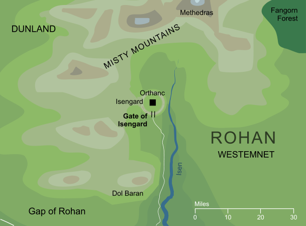Map of the Gate of Isengard