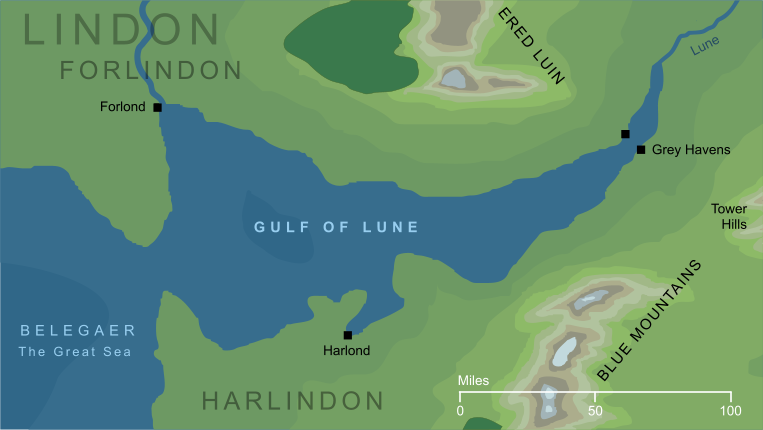Map of the Gulf of Lune