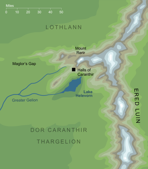 Map of Lake Helevorn
