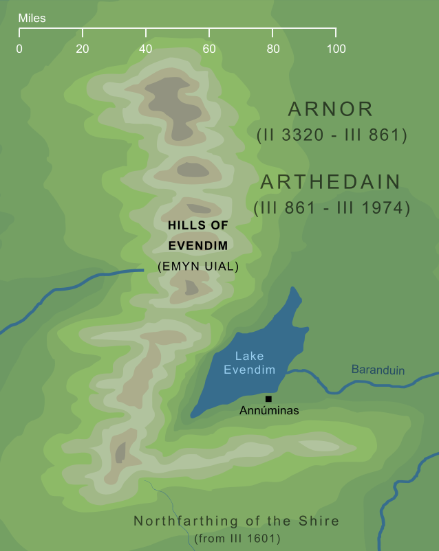 Map of the Hills of Evendim