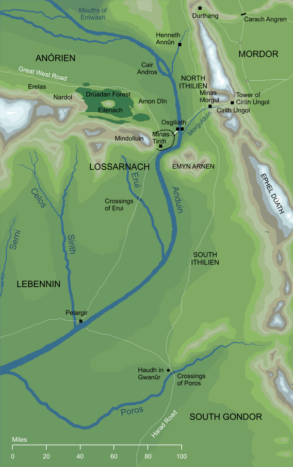 Map of Ithilien