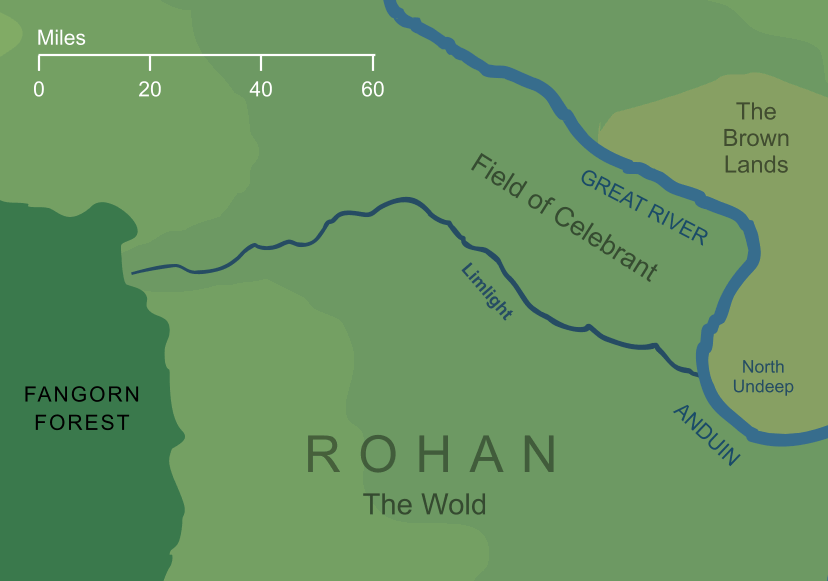 Map of the river Limlight