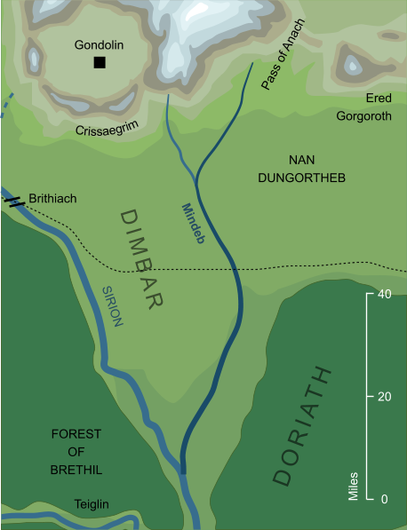 Map of the river Mindeb