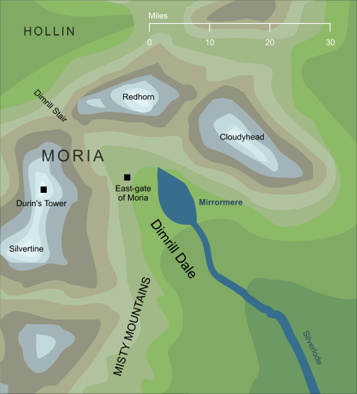 Map of the Mirrormere
