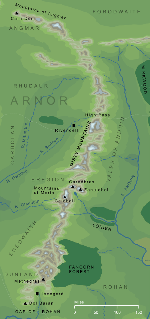 Map of the Misty Mountains