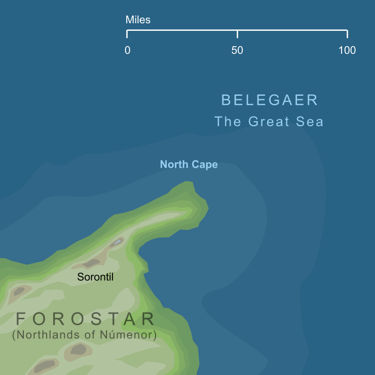 Map of the North Cape