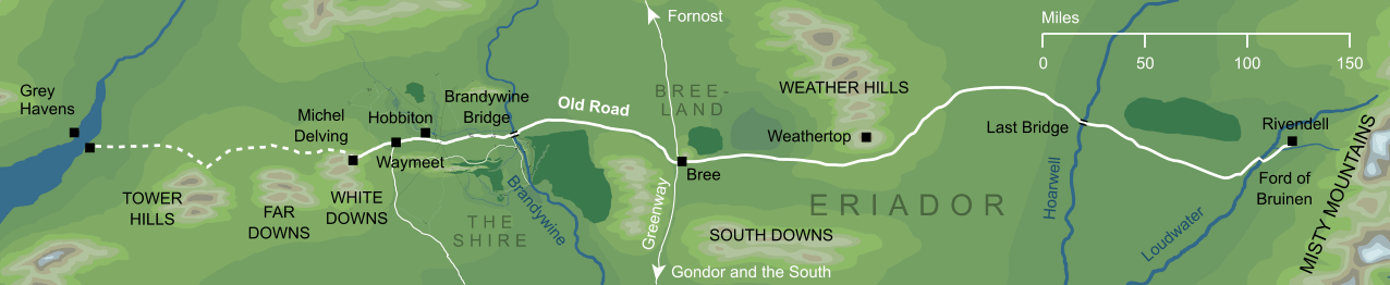 Map of the Old Road