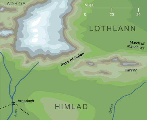Map of the Pass of Aglon