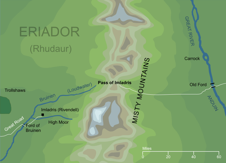 Map of the Pass of Imladris