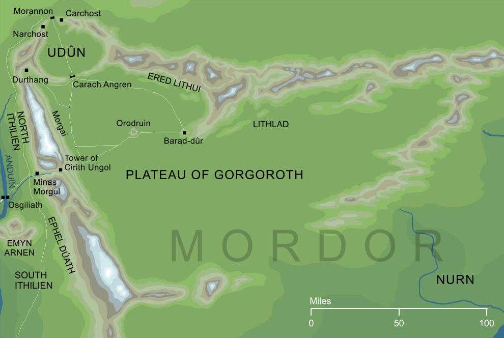 Map of the Plateau of Gorgoroth