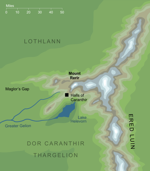 Map of Mount Rerir