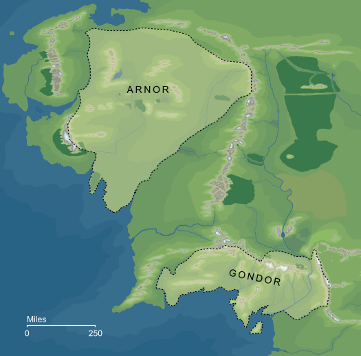 Map of the Reunited Kingdom