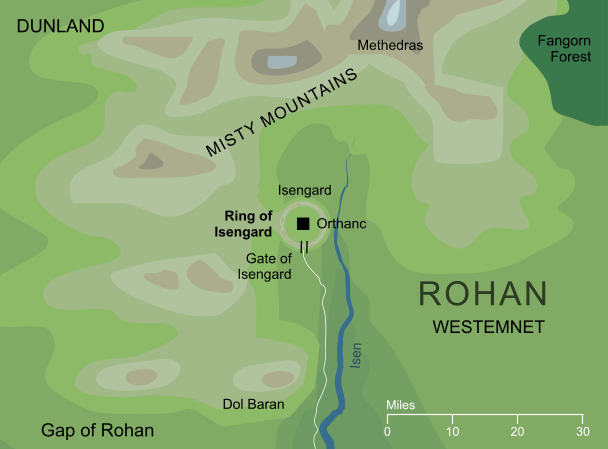 Map of the Ring of Isengard
