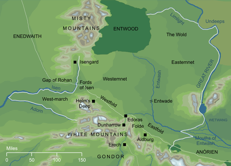 Map of Rohan