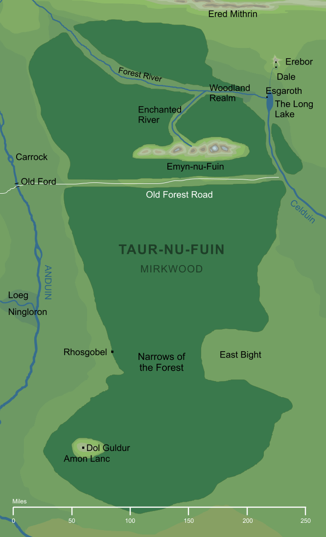 Map of Taur-nu-Fuin (Mirkwood)