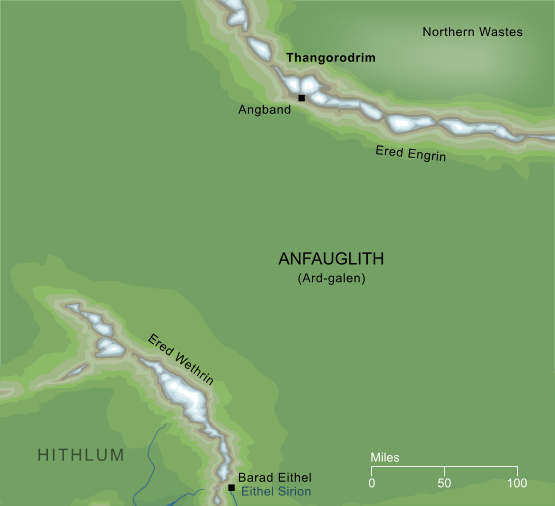 Conjectural Map of Thangorodrim
