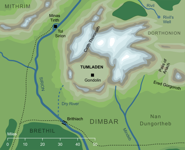 Map of Tumladen
