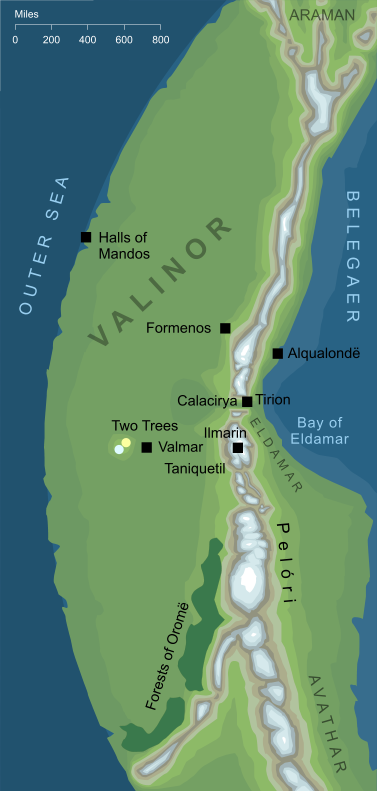Conjectural Map of Valinor