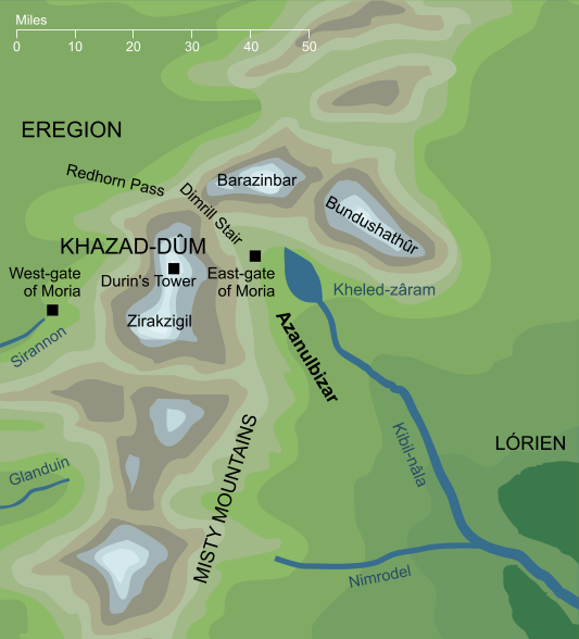 Map of Azanulbizar